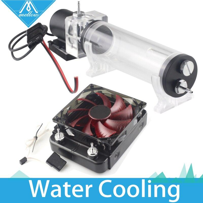 ¡Caliente! 3D impresora KIT de actualización de Titán AQUA Kit de refrigeración por agua para E3D salida Hotend Titan extrusora para etiqueta Cíclope + y Quimera +