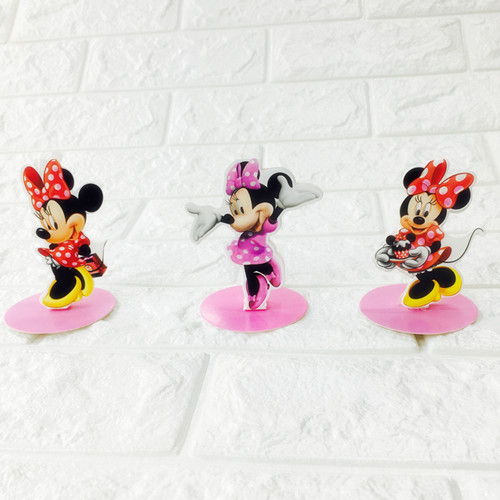 6pcs Lot Minnie Mouse Table Decoration Minnie Mouse Theme Table