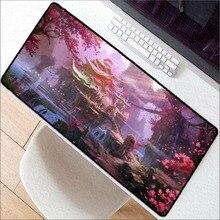 Mairuige японский фантазийный цветок Мышь большой коврик Pad Ноутбук Мышь Notbook компьютер Творческий резиновый коврик игровой Мышь площадку для LOL