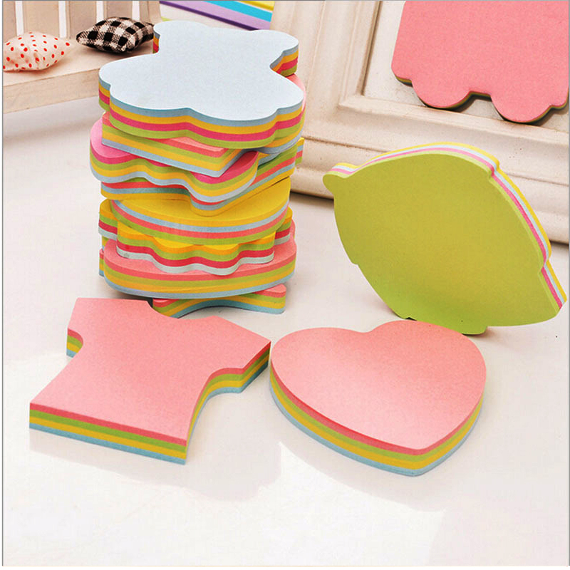 100 Pages Cute Multicolor Sticky Notes Self-Adhesive Memo Pads Sticker Post It Bookmark Marker Planner Sticker Briefpapier