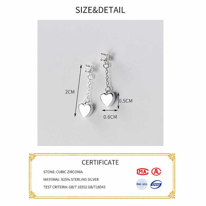 Inzatt Klasik Temperamen Pendek Rantai Rumbai Anting-Anting Drop Nyata 925 Sterling Perak untuk Wanita Pesta Pertunangan Fashion Perhiasan