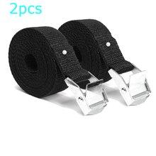 2Pcs Cam Buckle Tie-Down Car luggage Cargo Lashing Strap Zinc Alloy Zinc Nylon Black