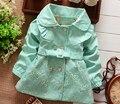 Bibicola novas crianças outerwear primavera outono meninas trench coat jacket casacos clothing define roupa dos miúdos das meninas do bebê varejo 1 pc