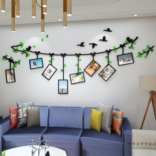 Cartoon photo frame tree 3D Acrylic Self-adhesive Wall Stickers Child baby decoration wall Living room bedroom stickers