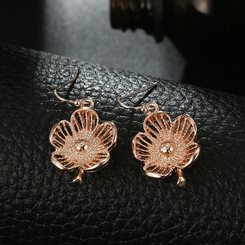 Wenchao Vintage Long Pendientes Earrings Female Boucle Doreille Flower Hanging Fashion Drop Earrings For Women Party Jewelry in Drop Earrings from Jewelry Accessories