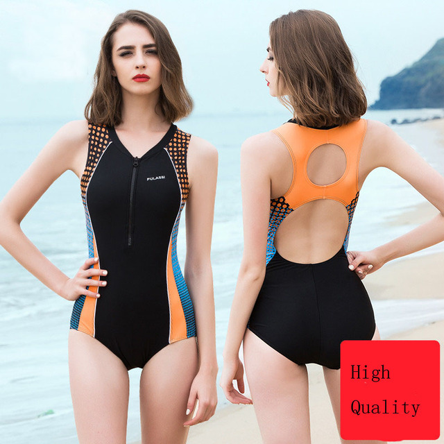ba91a8795e High-quality womne one-piece professional swimsuit Siamese conservative  belly slimming training gathered swimwear suit YY37