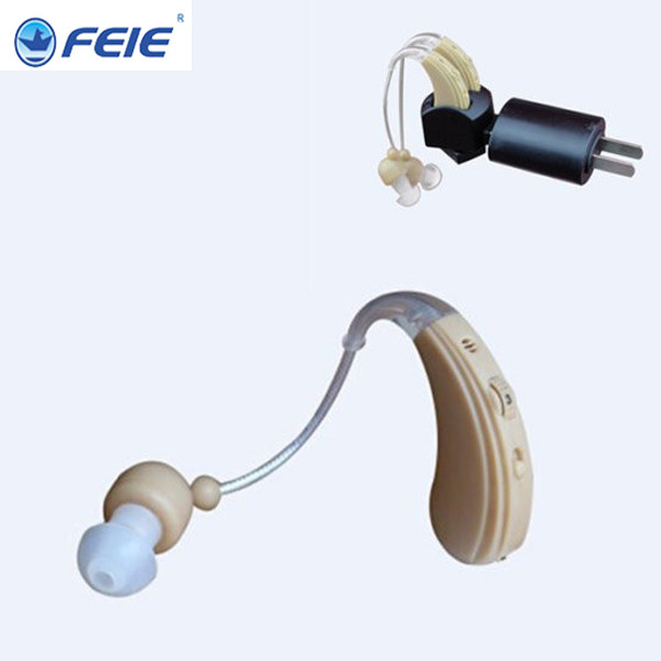 Cheap rechargeable hearing aid behind ear care China powerful hearing aids Old Man Deaf Audiphones S-109S free shipping free shipping hearing aids aid behind the ear sound amplifier with cheap china price s 268
