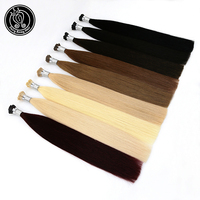 I Tip Keratin Pre bonded Hair Extensions Remy Russian Human Hair On The Capsule Fusion Hair 0.8g/s 18 50s/pac Fairy Remy Hair