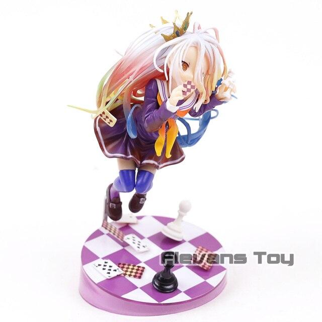 Anime No Game No Life Shiro 1/7 Scale Pré-Pintado PVC Figura Collectible Toy Modelo
