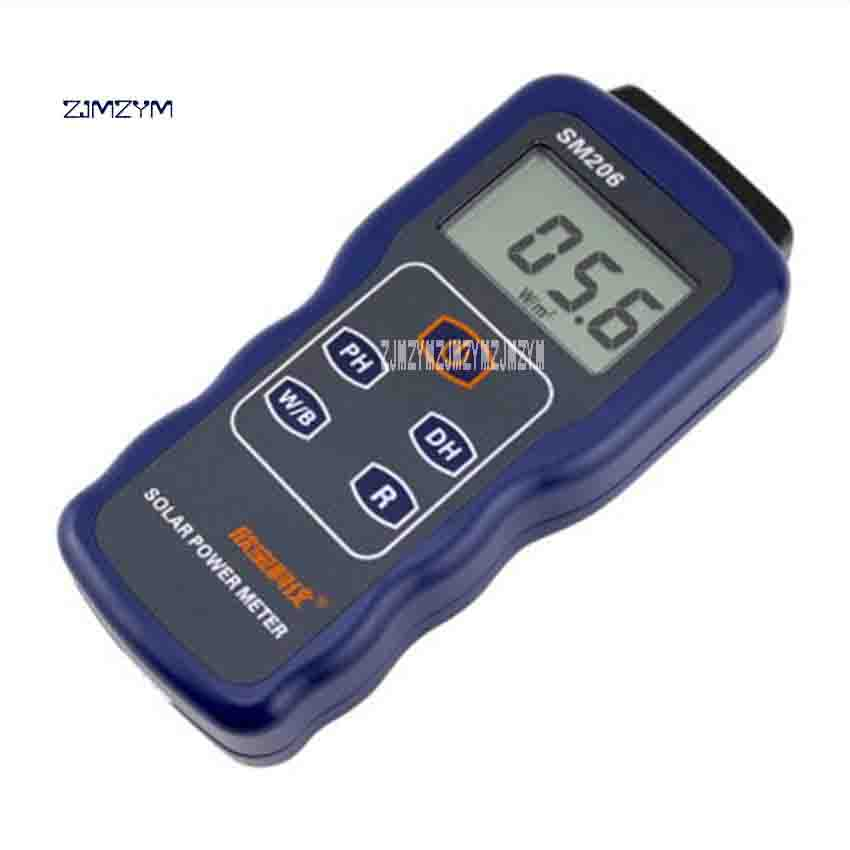 ZJMZYM New High Precision SM206 Radiation Measurement Power Meter 3-3 / 4LCD LCD Screen Radiation Glass Light Intensity Tester