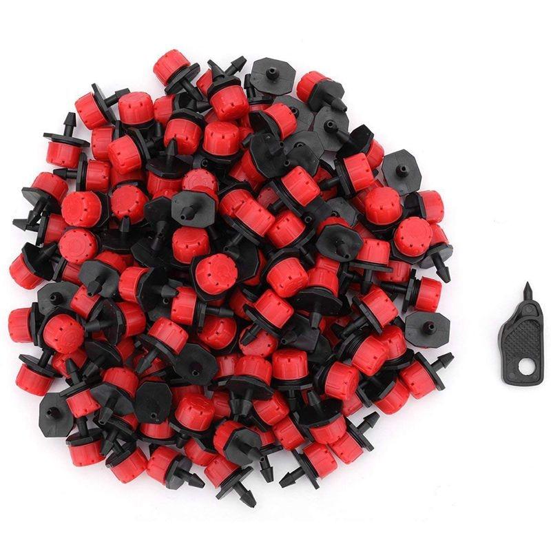 Einstellbare Drippers Emitter Micro-Sprinkler Köpfe 1/4 zoll Tropf Bewässerung Kits für Gewächshaus Terrasse Garten Blume