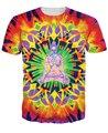 Innervision Футболки psychedelic футболка Лето Стиль топы Женщины Мужчины Красочные Красивая тис Плюс Размер Бесплатная Доставка