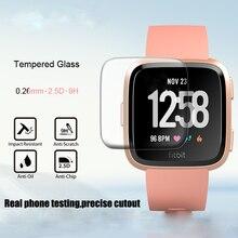 1/2 adet HD temperli ekran cam koruyucu Film Fitbit Versa akıllı saat aksesuarları 9H 2.5D Premium ekran koruyucu