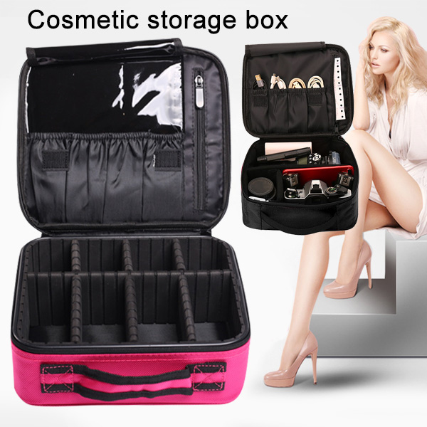 Hot Cosmetic Bag Travel Makeup Organizer Cosmetics Pouch Bag Professional Cosmetic Makeup Case BVN66