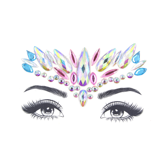 Glitter Face Jewelry Sticker Temporary Tattoo Party Face Makeup Tools rhinestones Flash tattoo stickers 3