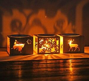 Image 2 - במבוק עץ חלול ניחוח מנורת שמן תנור ארומה מבער פמוט פמוט אגרטל אמנות רומנטיות מתנות עיצוב הבית