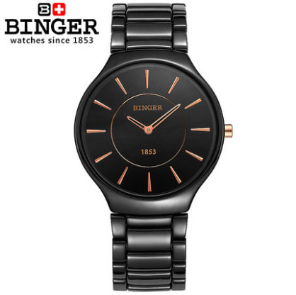 Fashion Couple Brand Quartz Women Watches Black Ceramic Ultrathin Wristwatches Female Form Gift Box watch man BINGER Brand 8006M ultrathin couple watches for men waterproof stainless steel watch male table women quartz watch female form valentines day gift