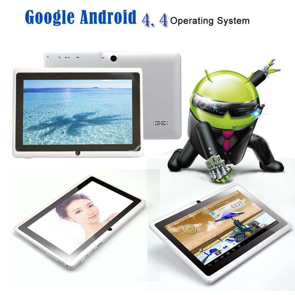 7 Android 4.4 8GB Dual Cameras Quad Core WiFi Kids Tablet PC For Gifts White