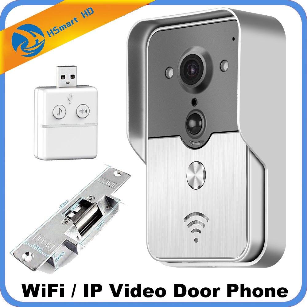 Новые 3G Wi-Fi видео дверь домофон SD карты Открытый IP Камера домофона Дверные звонки Системы P2P обнаружения движения + Strike замок