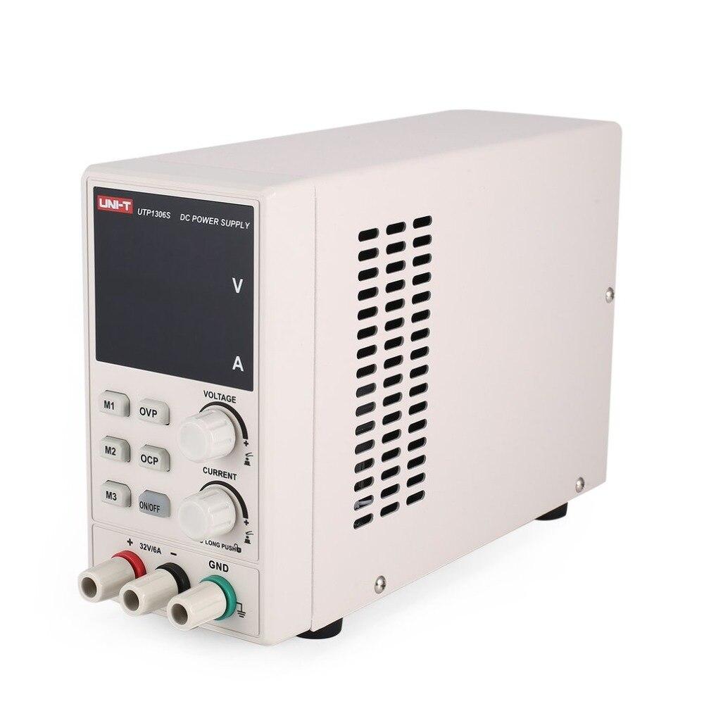 UNI-T 30 В/6A цифровой DC питание Ток Напряжение Регулируемый коммутации стабилизированный вольт для электрического обслуживания