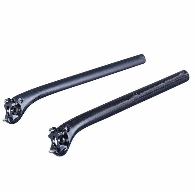 Aucun LOGO mat/brillant UD fibre de carbone tige de selle de vélo vtt pièces de vélo de route 27.2/30.8 /31.6*400mm 350mm en arrière 20 degrés