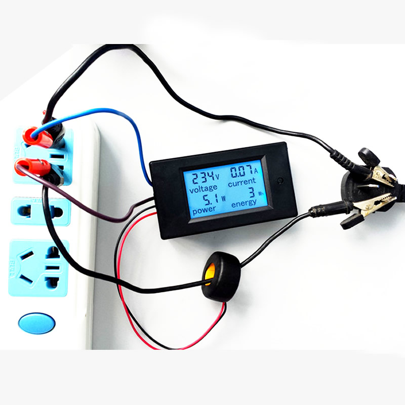 Digital AC Voltage Meters 100A/80~260V Power Energy analog Voltmeter Ammeter watt current Amps Volt meter LCD Panel Monitor