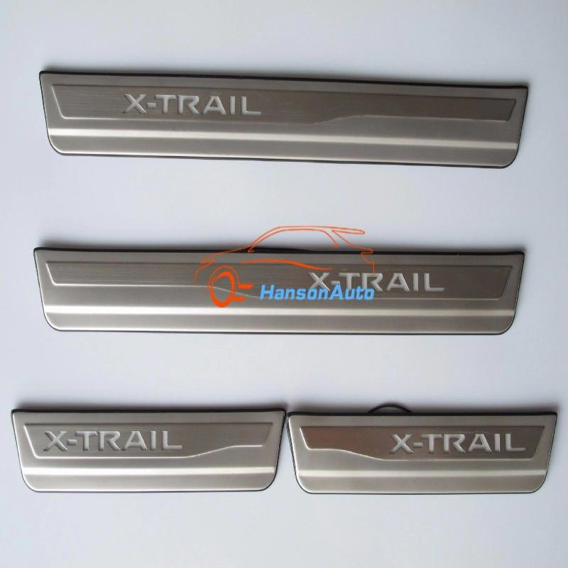 For Car Styling Nissan X-Trail Door Sill With LED Scuff Plate Guards Door Sills Plates Trim Car Accessories Sticker 2015 2017 цена