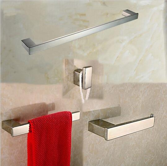 Compra accesorios de ba o de acero inoxidable online al for Set bano toallero