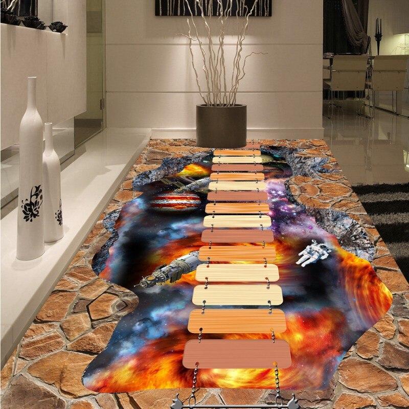 Gratis Verzending custom Cosmic Star 3D Floor waterdicht verdikte ...