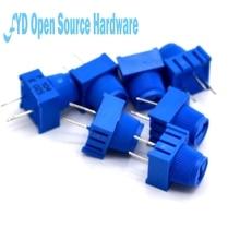 50 Uds 3386P 1 103 10K 0,5 W, 1/2W pin PC a través del agujero Trimmer potenciómetro Cermet 1 Ajuste de giro superior