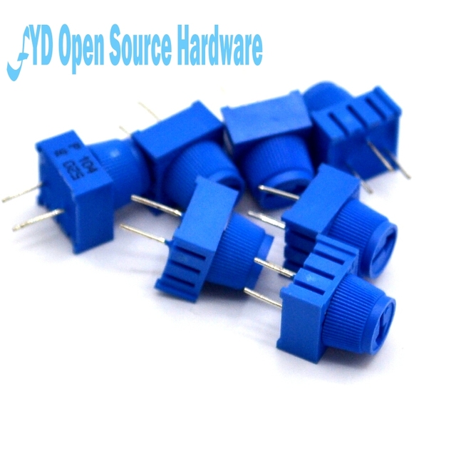 50pcs 3386P 1 103 10K 0.5W, 1/2W PC Pins Through Hole Trimmer Potentiometer Cermet 1 Turn Top Adjustment