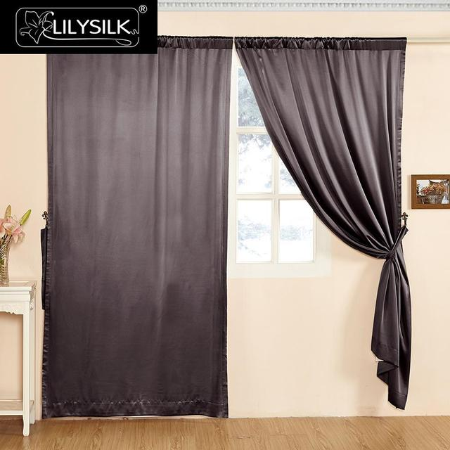 silk curtains for living room מוצר lilysilk silk curtain 22 momme fashion new 18839