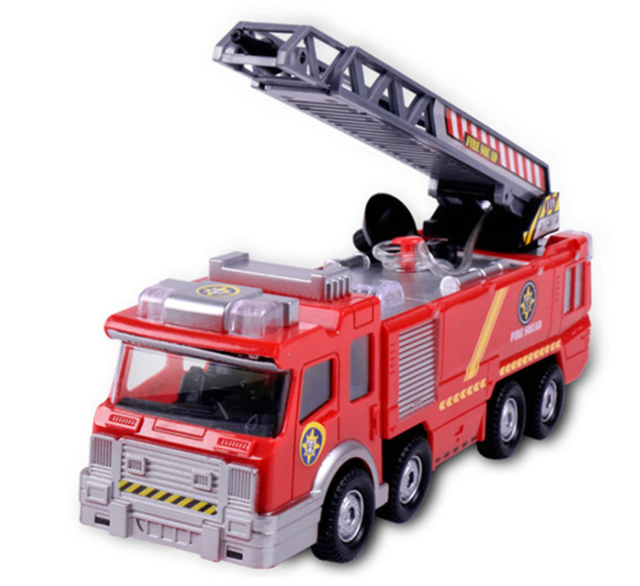 Juguetes Fireman Sam Kids Toys Fire Truck Car With Music Led For Baby Toys Fire Truck Educational Water Spray Toy