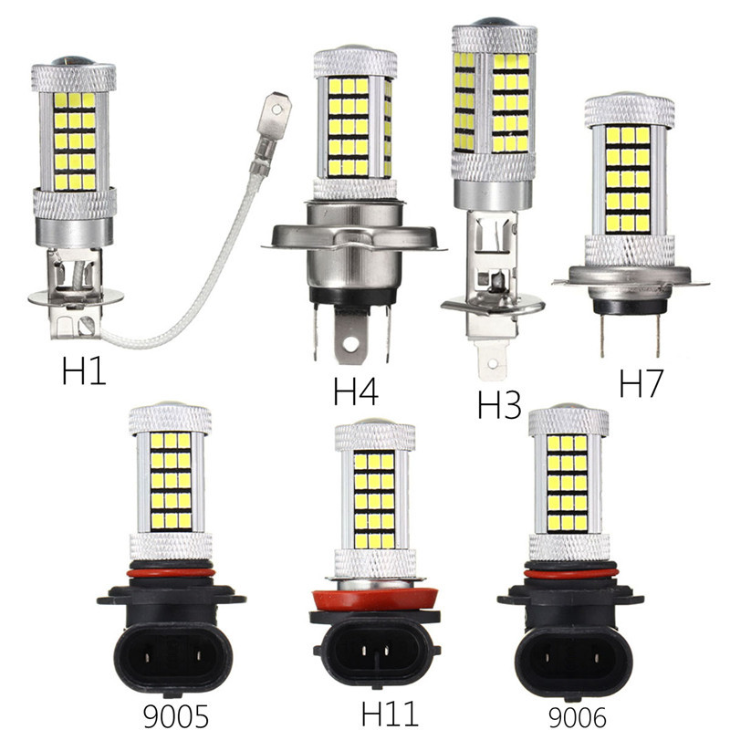 2pcs 66 SMD 2835 LED Auto Car Headlight Bulb H1 H3 H4 H7 H11/H8 9005/HB3 9006/HB4 Auto Front Bulb Automobile Headlamp Fog Light h7 car led headlight bulb 100w 20000lm cob chip led auto headlight canbus headlamp automobile led head fog light 12v 24v 6000k