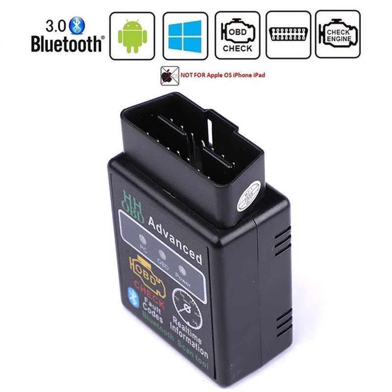 HH OBD ELM327 Bluetooth OBD2 OBDII CAN バスチェックエンジン車の自動車診断スキャナツールインタフェース Android のタブレット用 PC