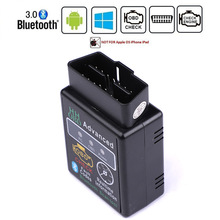 HH OBD ELM327 Bluetooth OBD2 OBDII CAN BUS Check Engine Car Auto Diagnostic Scanner Tool Interface Adapter For Android PC latest v168 re na ult can clip obd2 diagnostic interface for re na ult auto scanner diagnostic tool can clip 3 pack dhl free