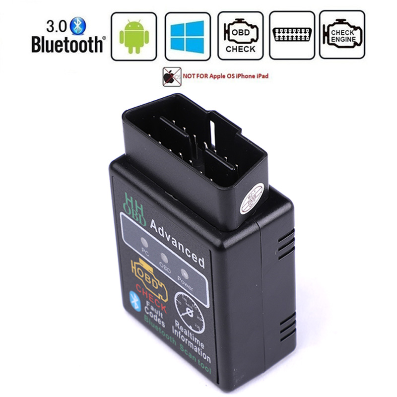 HH OBD <font><b>ELM327</b></font> Bluetooth <font><b>OBD2</b></font> OBDII CAN BUS Check Engine Car Auto Diagnostic <font><b>Scanner</b></font> Tool Interface Adapter For Android PC image