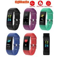 K5 Além de Tela Colorida Inteligente Pulseira Sports Pulseira Coração Taxa de Sangue pressão de Oxigênio de Fitness Rastreador para o iphone 6 S Plus 5S 5 4