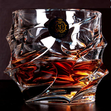 Lead-free crystal whisky glass cup square wine brandy