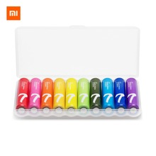 10PCS/lot AAA alkaline Battery Xiaomi Original Rainbow Disposable Batteries Kit for Camera Mouse Keyboard Controller Car Toys
