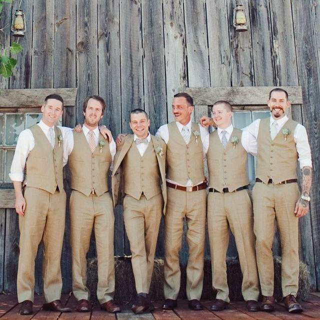 Online Shop Hot Selling Khaki Groommens Vests Best Man Vest Custom ...