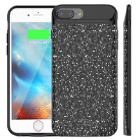 External 3700mAh 3D Carbon Smart Magnetic Back TPU Power Pack Battery Charger Adapter Case Cover For iPhone 6 6S 7 8 Plus USB