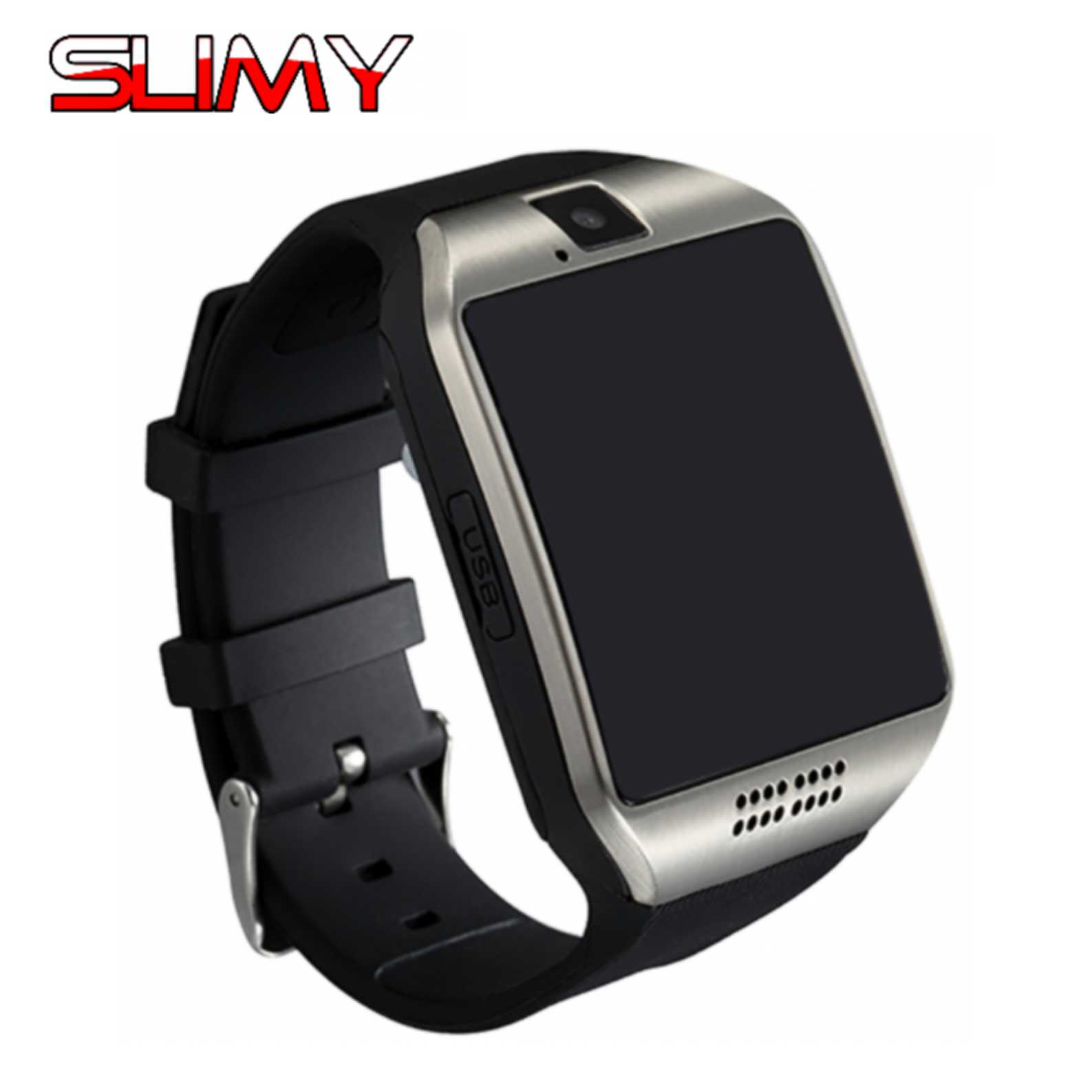 Slimy Men Women Q18 Smart Watch S18 For Android IOS Support TF SIM Card Bluetooth Smartwatch