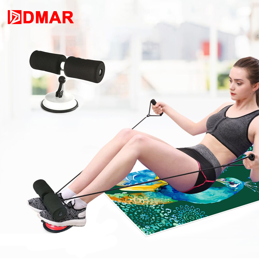DMAR Adjustable Sit Up Bars Abdominal Core Workout Strength Training Sit Up Assist Exercise Fitness Equipment Home Gym Yoga Mat