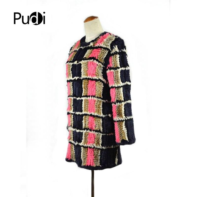 Fourrure Style Manteau Carreaux D hiver Mode Long À Lapin De Nouveau  Véritable Outwear veste Cr033 Femmes wExZqIz1U 07261edbe52
