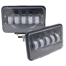 Yait Luz LED de trabajo de 50W y 6 pulgadas, lámpara de conducción por inundación para coche, camión, remolque, SUV, todoterreno, barco, 12V, 24V, 4x4, 4WD, 2 unidades