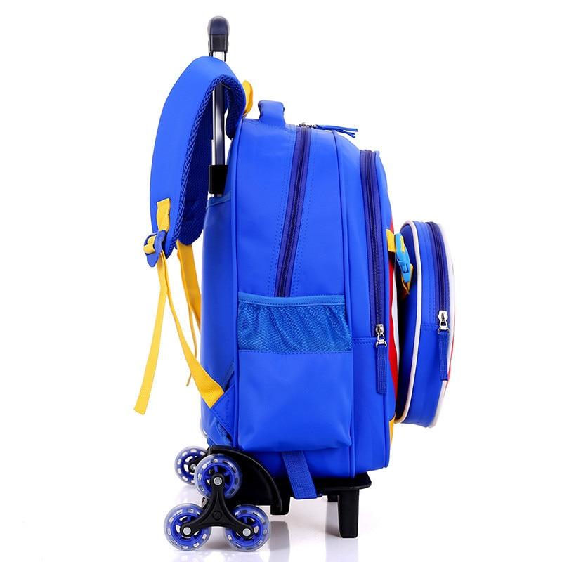 2/6 바퀴 초등학교 여행 트롤리 가방 캡틴 아메리카 어린이 트롤리 소년과 3d 배낭 학교 가방 어린이 휠-에서학교가방부터 수화물 & 가방 의  그룹 2