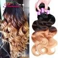 Brazilian Hair Weave 4 Bundles Ombre Brazilian Virgin Hair Queen Hair Brazilian Body Wave Ombre Blonde Brazilian Hair