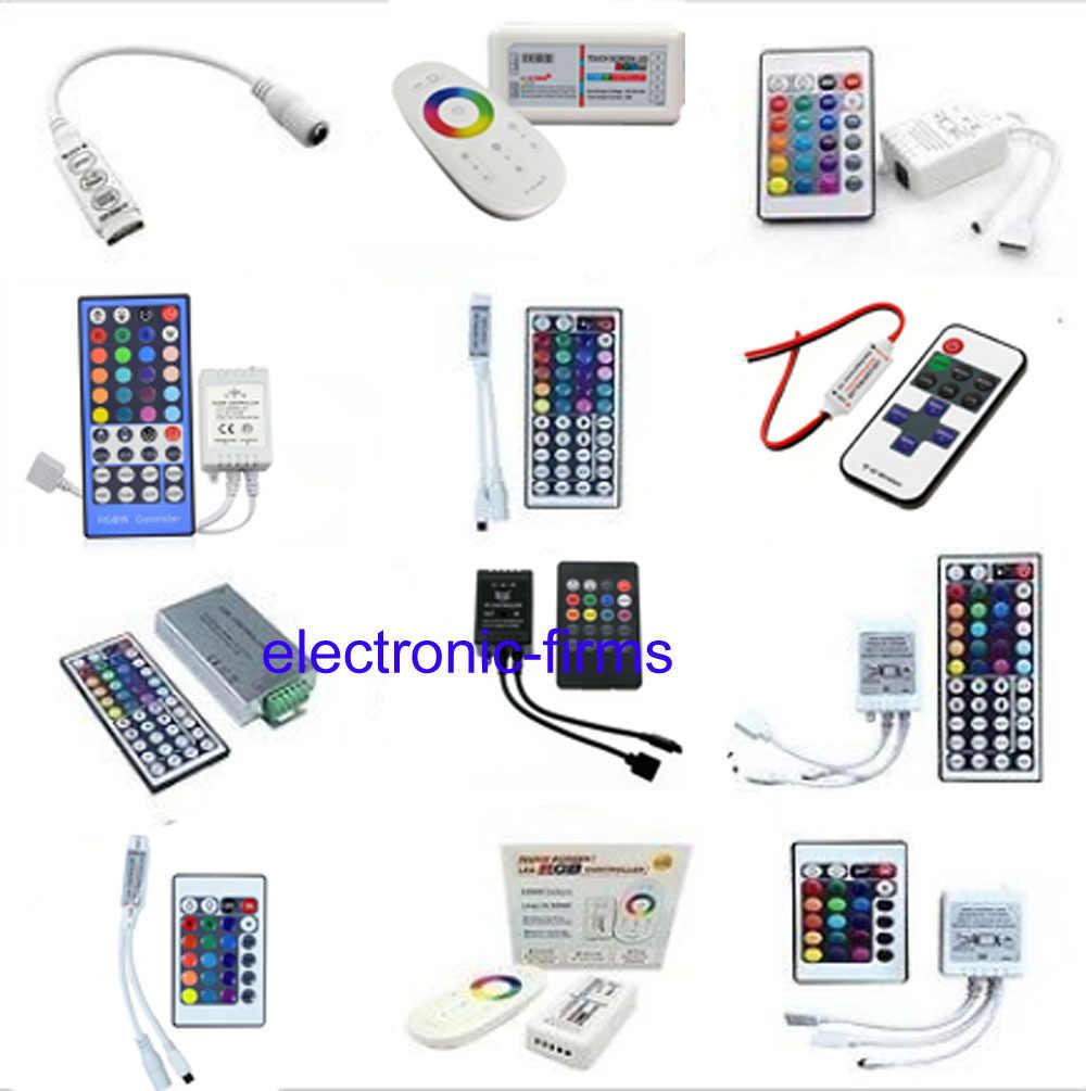 Taśmy LED światła Mini 3/24/44 klucz pilot zdalnego sterowania na podczerwień kontroler bezprzewodowy Wifi doprowadziły kontroler RGB DC12V MIni Wifi 3 klucz do 3528 5050 RGB