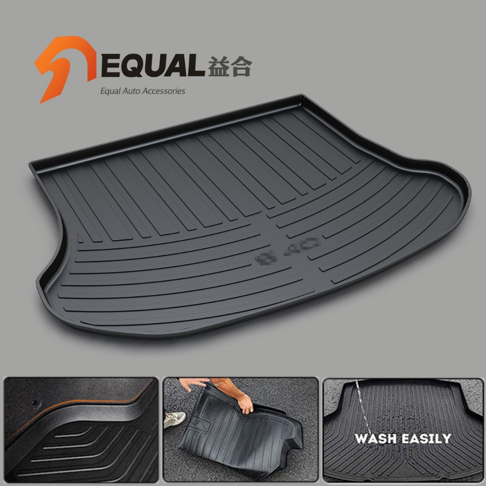 RUBBER TRUNK MAT FIT FOR VOLVO S40 S60L S80L XC60 XC90 V40 V50 V60 V70 BOOT LINER REAR TRUNK CARGO FLOOR TRAY CARPET COVER MATS custom fit car trunk mats for nissan x trail fuga cefiro patrol y60 y61 p61 2008 2017 boot liner rear trunk cargo tray mats